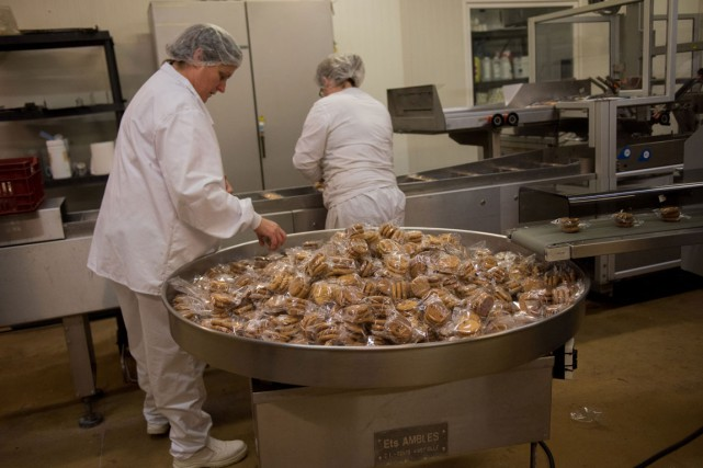 Biscuits, pain, biscottes... dans l'usine de Bruno Pierre... (PHOTO AFP/DENIS CHARLET)