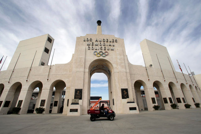 Le Memorial Coliseum de Los Angeles... (Photo Nick Ut, AP)
