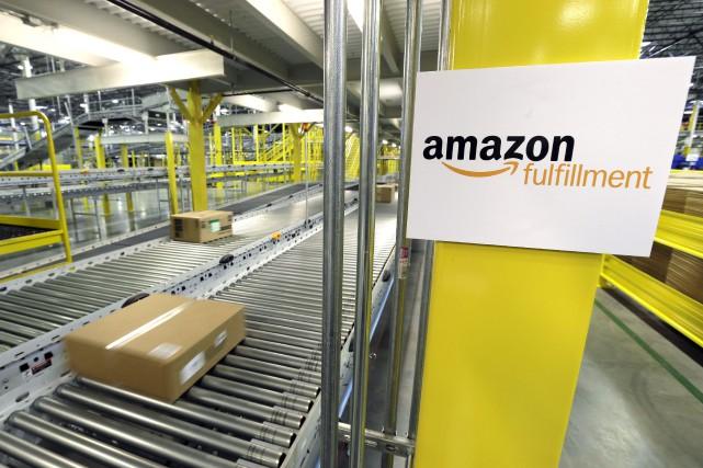 Le géant américain de la distribution en ligne Amazon continue de muscler ses... (PHOTO ARCHIVES AP)