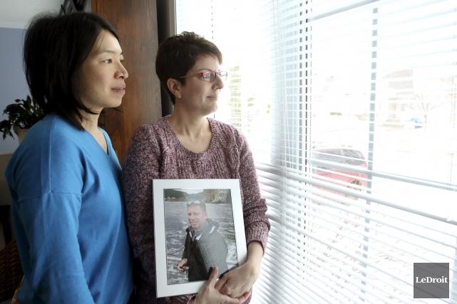 Ora Tsang et Caroline Glazer, respectivement ex-conjointe et... (Patrick Woodbury, Le Droit)