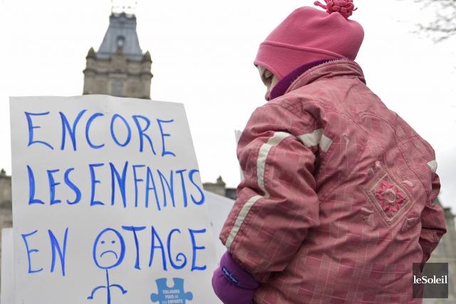 L'Association québécoise des centres de la petite enfance... (Photothèque Le Soleil, Yan Doublet)