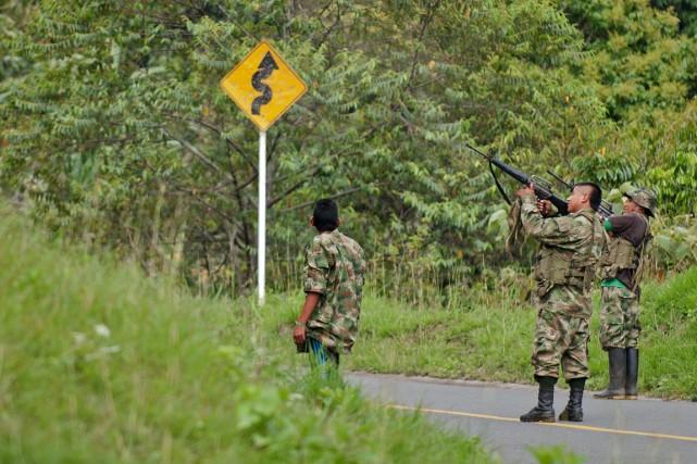 Un accord de paix devrait être signé le... (Photo Luis ROBAYO, archives AFP)
