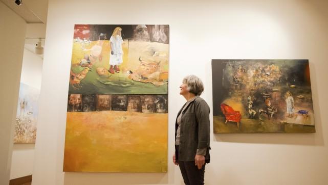 L'artiste-peintre Louisette Gauthier-Mitchell aime jouer dans l'espace des... (Spectre, Jessica Garneau)