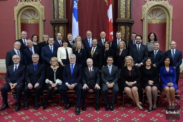 Le nouveau conseil des ministres.... (Le Soleil)