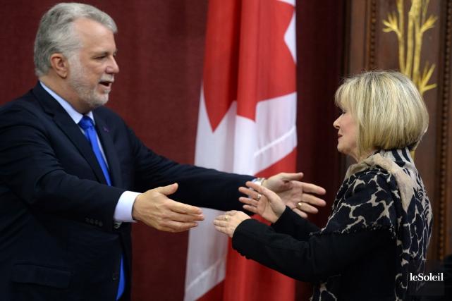 Julie Boulet fait un retour au cabinet libéral.... (Le Soleil)