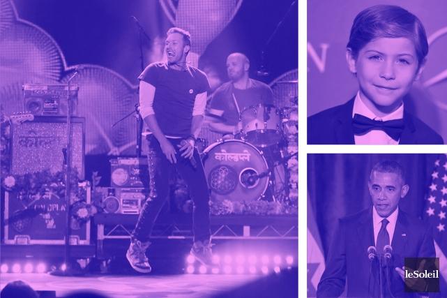 Premières dates pour Coldplay (Infographie Le Soleil)