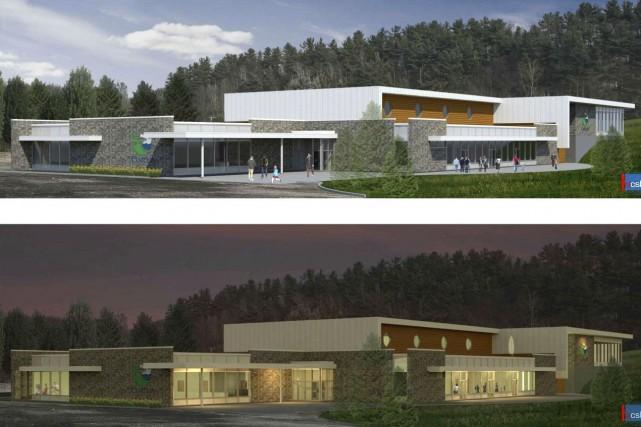 Une esquisse du futur centre communautaire multifonctionnel de... (Courtoisie)