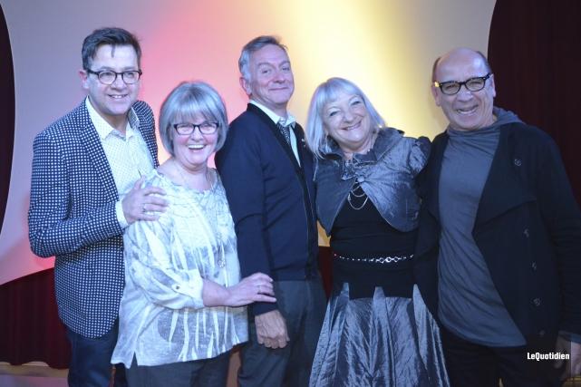 Des pionniers du Mic-Mac, Christain Roberge, Francine Joncas,... (Photo Le Quotidien, Louis Potvin)