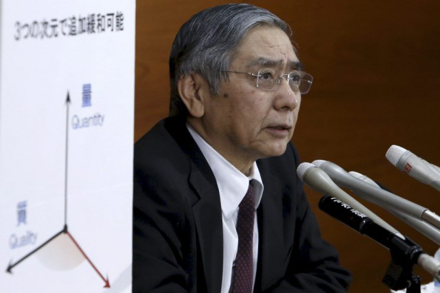 Le gouverneur de la Banque du Japon, Haruhiko... (PHOTO YUYA SHINO, REUTERS)