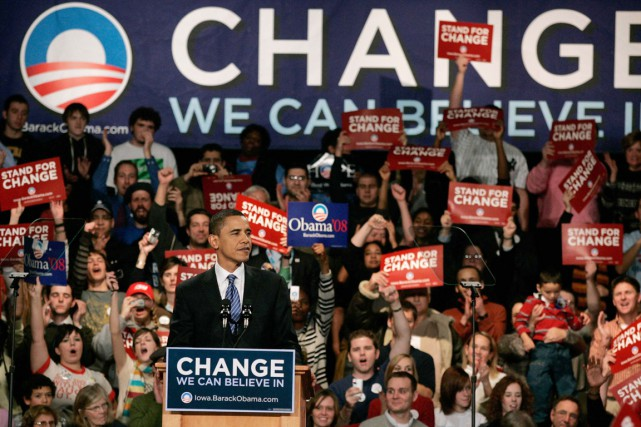 Pour Obama, les caucus de l'Iowa furent l'épisode... (PHOTO KEITH BEDFORD, ARCHIVES REUTERS)