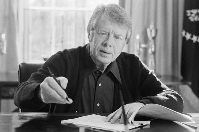 Le président Jimmy Carter, à Washington, le 5... (PHOTO JOHN DURIKA, ARCHIVES AP)