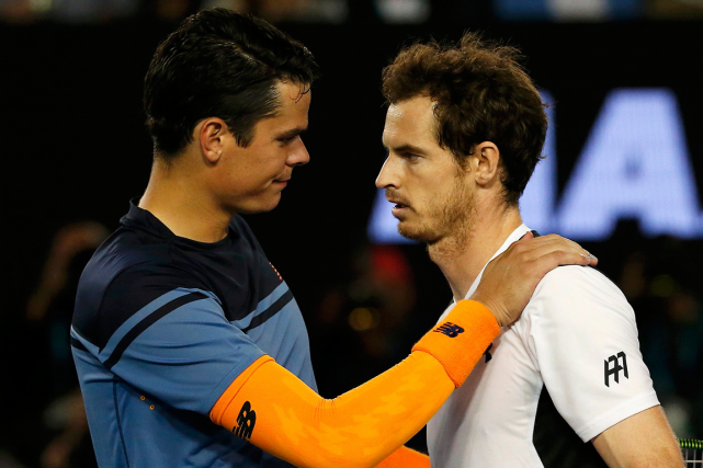 Milos Raonic et Andy Murray... (Photo Tyrone Siu, Reuters)