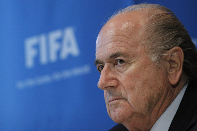 Sepp Blatter... (Photo Sebastian Derungs, archives AFP)
