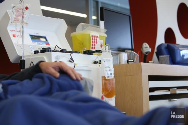 Héma-Québec a pu ouvrir les portes de son Salon de dons de plasma à Sherbrooke,... (Archives La Presse)