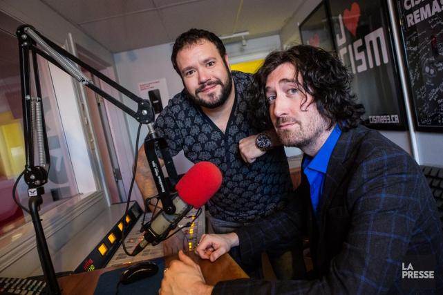 Sébastien Trudel et Marc-Antoine Audette desJusticiers masqués.... (PHOTO ÉDOUARD PLANTE-FRÉCHETTE, LA PRESSE)