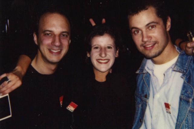 Olivia Lévy, au centre, avec Claude Durand, qui... (PHOTO FOURNIE PAR OLIVIA LÉVY)
