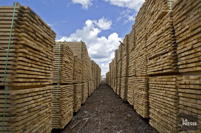 L'Association des manufacturiers de bois d'oeuvre des États-Unis devrait... (Archives La Presse)