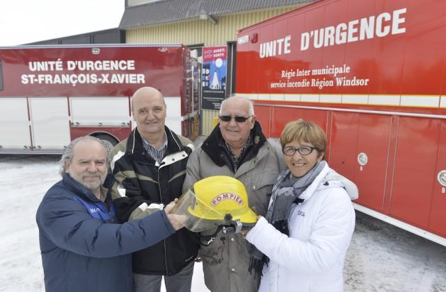 Les pompiers de Saint-François-Xavier-de-Brompton font partie depuis le... (Spectre Média, Maxime Picard)