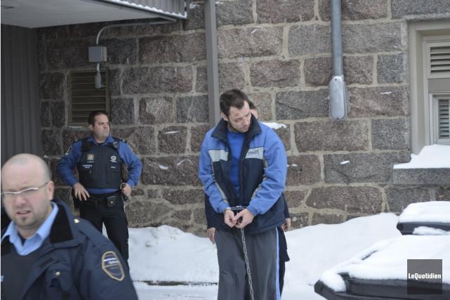David Asselin a été formellement accusé de meurtre.... (Photo Le Quotidien, Louis Potvin)
