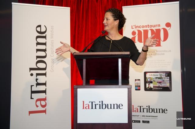 Au moment du lancement, la présidente et éditrice,... (Archives, La Tribune)
