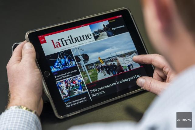 Qui a prétendu que l'information à l'extérieur de Montréal était à l'agonie?... (Archives La Tribune, Frédéric Côté)