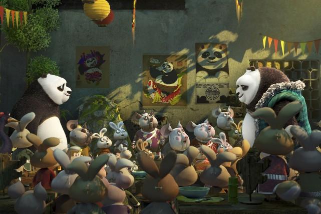 Po, le panda maître du kung-fu un peu... (Fournie par DreamWorks)