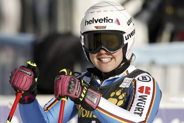 Viktoria Rebensburg... (PHOTO MARCO TROVATI, AP)
