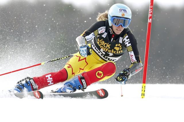 La skieuse de Lac-Etchemin Marie-Michèle Gagnon a terminé... (La Presse Canadienne, Antonio Bat)