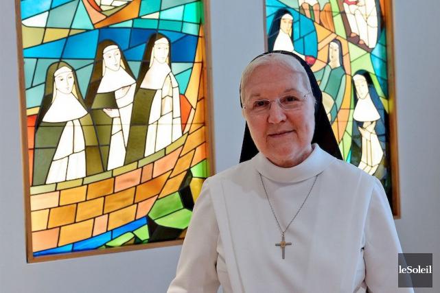 La supérieure générale des Augustines, soeur Lise Tanguay,... (Le Soleil, Erick Labbé)