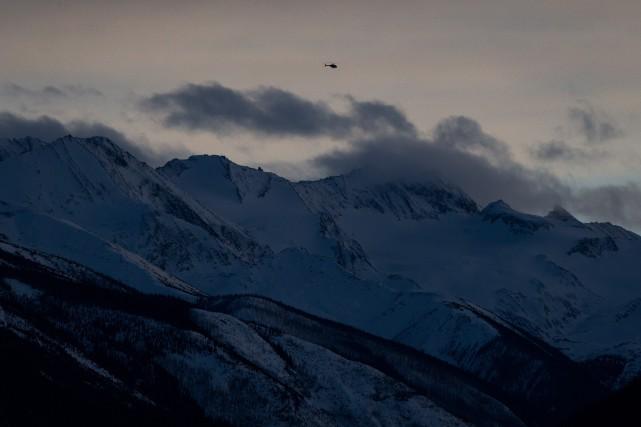 L'avalanche s'est produite vendredi après-midi dans les environs... (Photo Darryl Dyck, La Presse Canadienne)