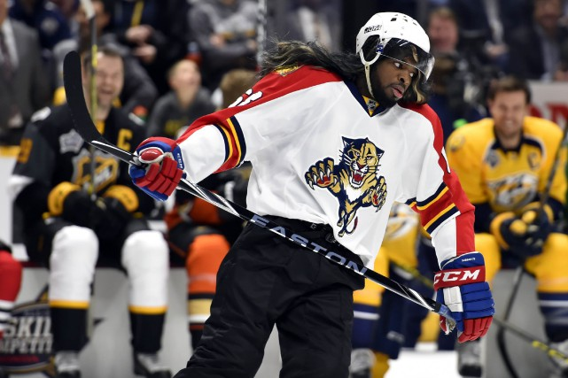 P.K. Subban s'est déguisé en Jaromir Jagr lors... (Photo Christopher Hanewinckel, USA Today)
