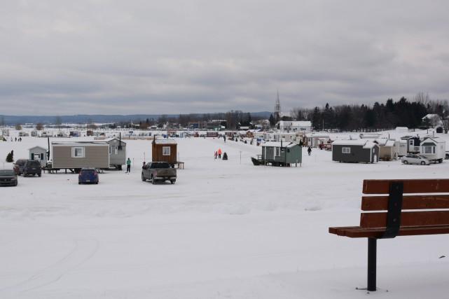 Le site du Village sur glace de Roberval... (Photo courtoisie, Sylvie Marcoux)