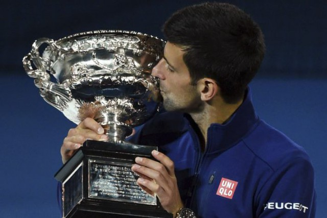 Novak Djokovic égale le record des titres à l'Open... (PHOTO GREG WOOD, AFP)