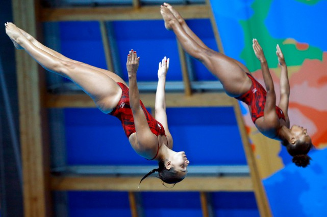 Pamela Ware et Jennifer Abel... (PHOTO SERGEI GRITS, ARCHIVES AP)