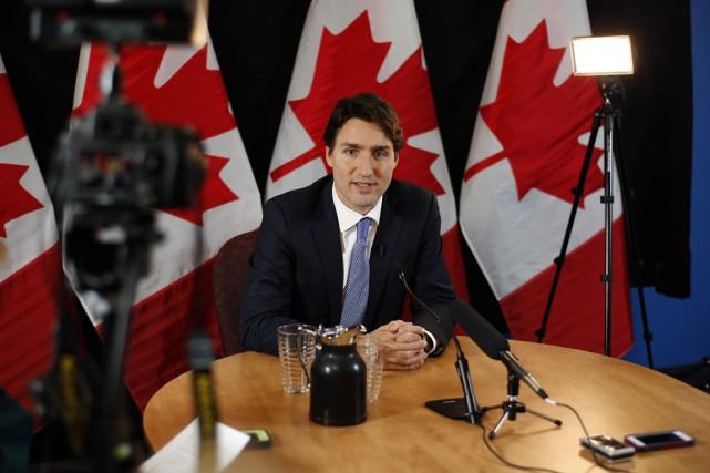 M. Trudeau a montré dès son arrivée à... (Photo La Presse Canadienne)