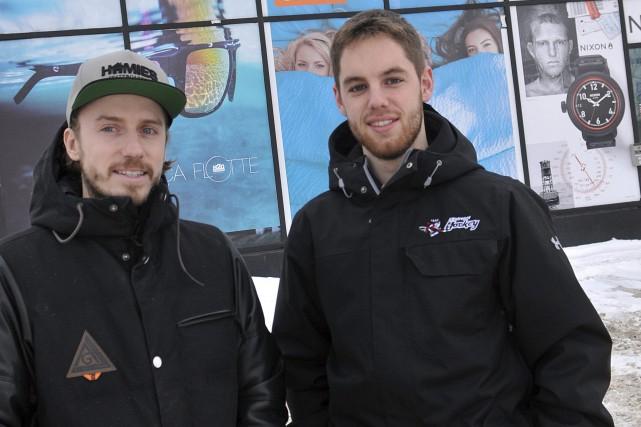 Alex Gagnon, de Homie's, et Guillaume Roy, de... (Photo Le Progrès-Dimanche, Rocket Lavoie)