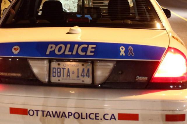 Le Service de police d'Ottawa (SPO) est intervenu en soirée dans le quartier... (Archives PC)