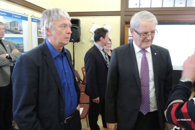 Robert Bellefleur était présent à la conférence de... (La Tribune, Ronald Martel)