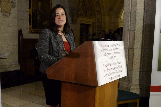 La ministre de la Justice Jody Wilson-Raybould... (PHOTO ADRIAN WYLD, ARCHIVES LA PRESSE CANADIENNE)