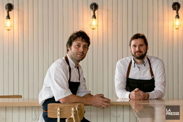 Les deux copropriétaires du nouveau restaurant Hoogan et... (PHOTO DAVID BOILY, ARCHIVES LA PRESSE)