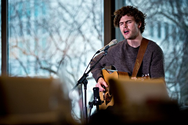Le chanteur australien Vance Joy était en spectacle... (Photo Patrick Sanfaçon, La Presse)