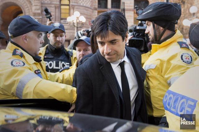C'était lundi, le premier jour du procès de... (La Presse Canadienne)
