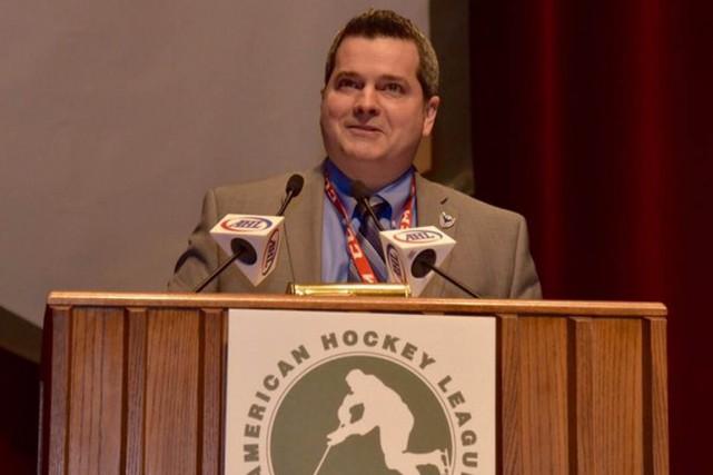 Jean-François Labbé est devenu un des immortels de... (Twitter/The AHL)