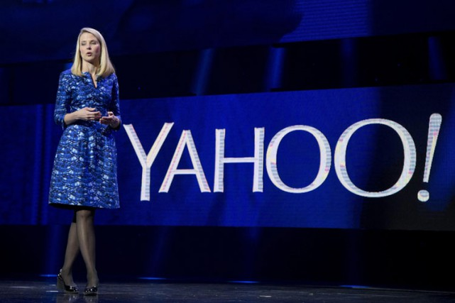 La directrice générale de Yahoo!, Marissa Mayer.... (PHOTO ARCHIVES AP)