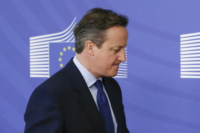 Le premier ministre britannique David Cameron, à Bruxelles,... (PHOTO YVES HERMAN, ARCHIVES REUTERS)