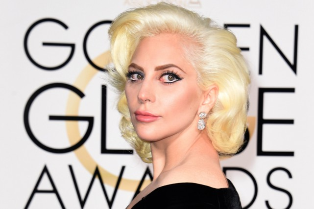 Lady Gaga aux Golden Globes en janvier dernier.... (PHOTO ARCHIVES AFP)