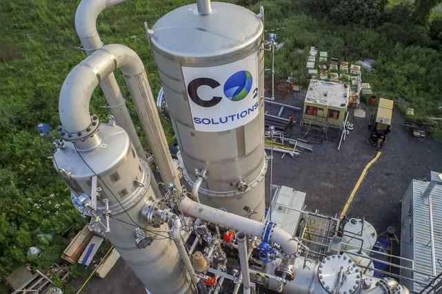 L'usine pilote de CO2 Solutions installée à Salaberry-de-Valleyfield... (Fournie par CO2 Solutions)