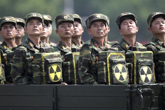 Des soldats nord-coréens... (AP, Wong Maye-E)