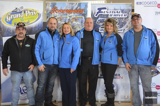 Des membres du comité organisateur du Festival d'Hiver... (Photo Le Quotidien, Louis Potvin)