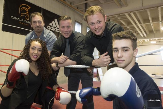 Les boxeurs Tammara Thibeault et Alexis Grenier seront... (Stéphane Lessard, Le Nouvelliste)